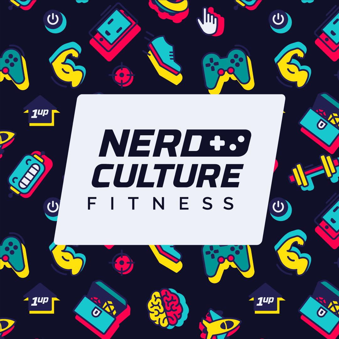 Nerd Culture Fitness logo dark