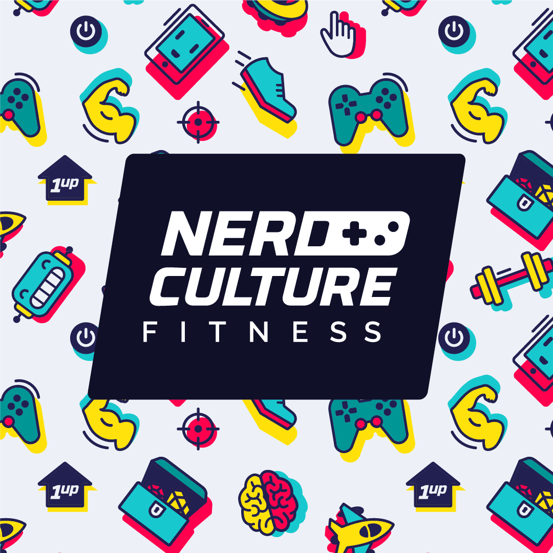 Nerd Culture Fitness logo light
