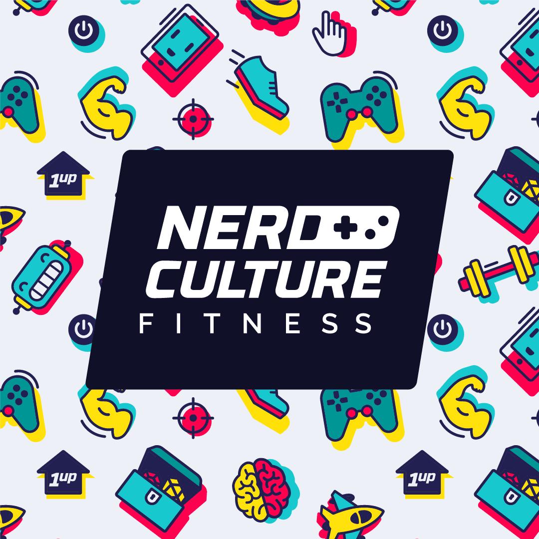 Nerd Culture Fitness logo light