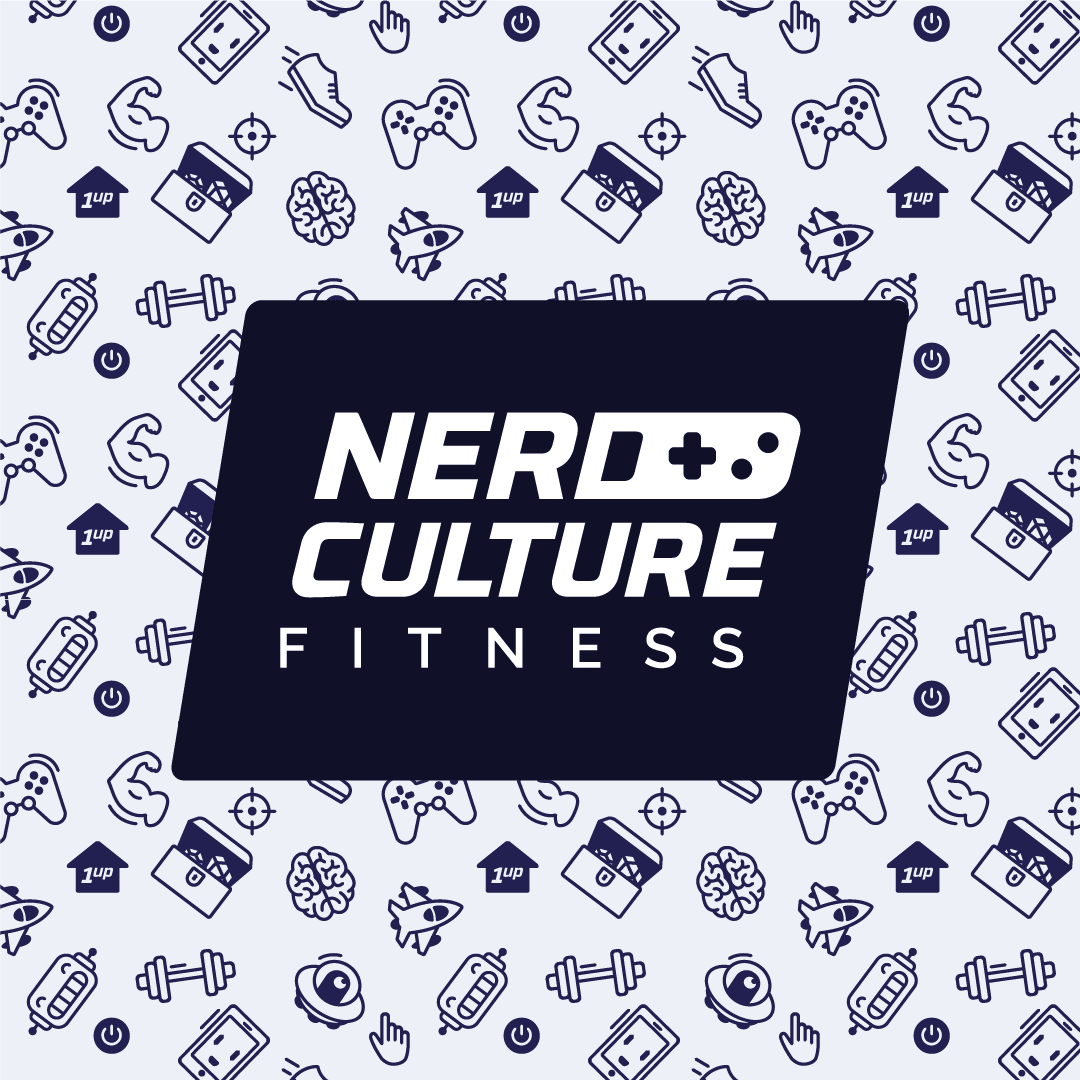 Nerd Culture Fitness logo mono