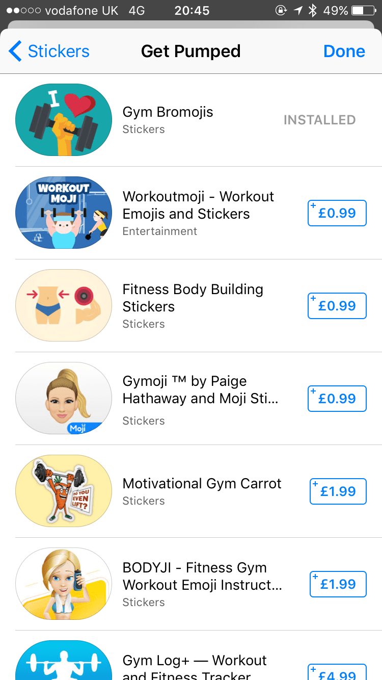 Gym bro sticker icons number 1 on App Store