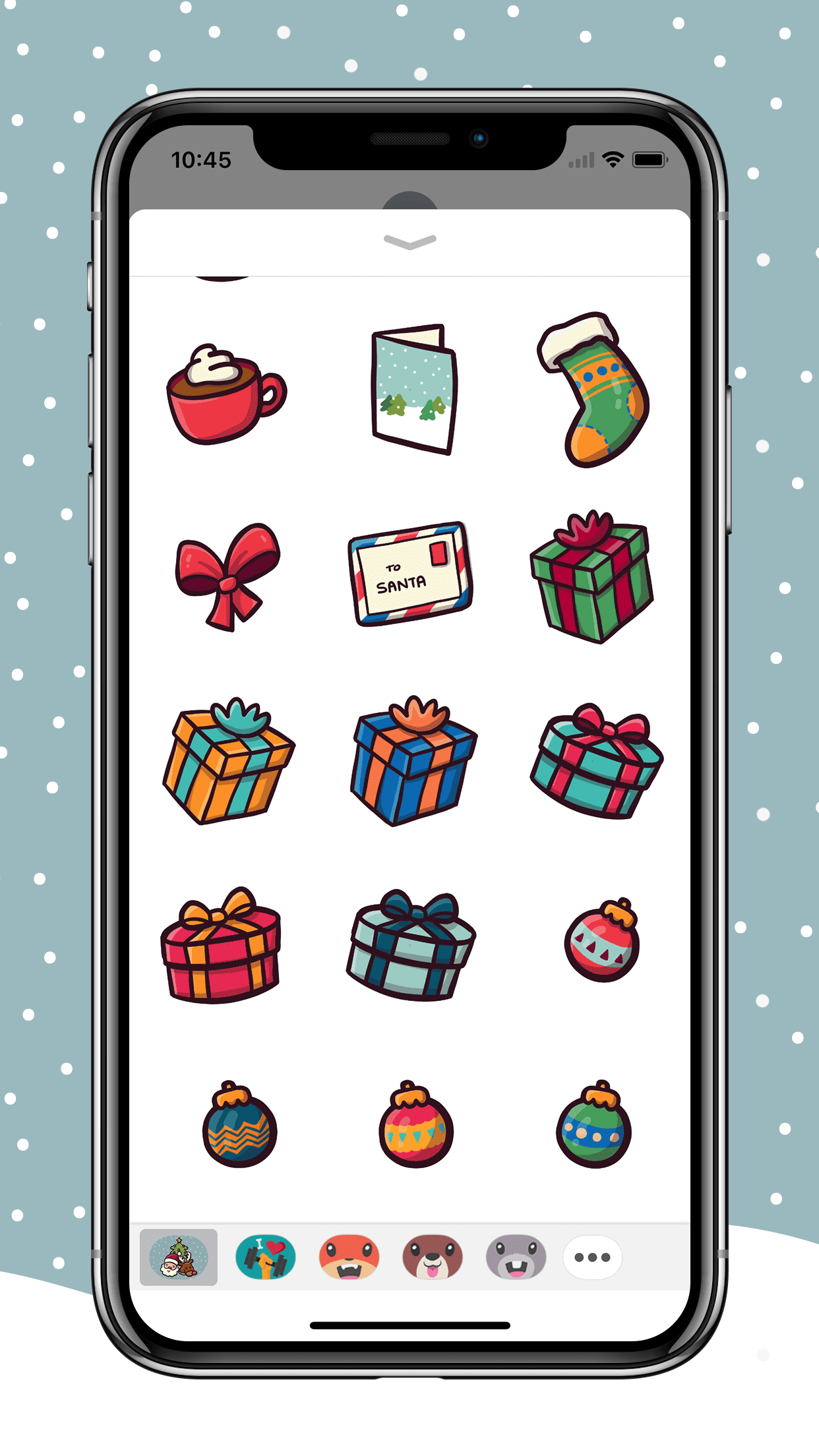 Cute Christmas Icons for iMessage