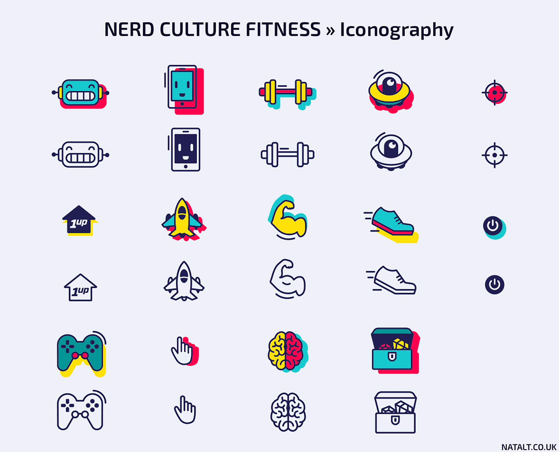 Nerd Culture Fitness iconography