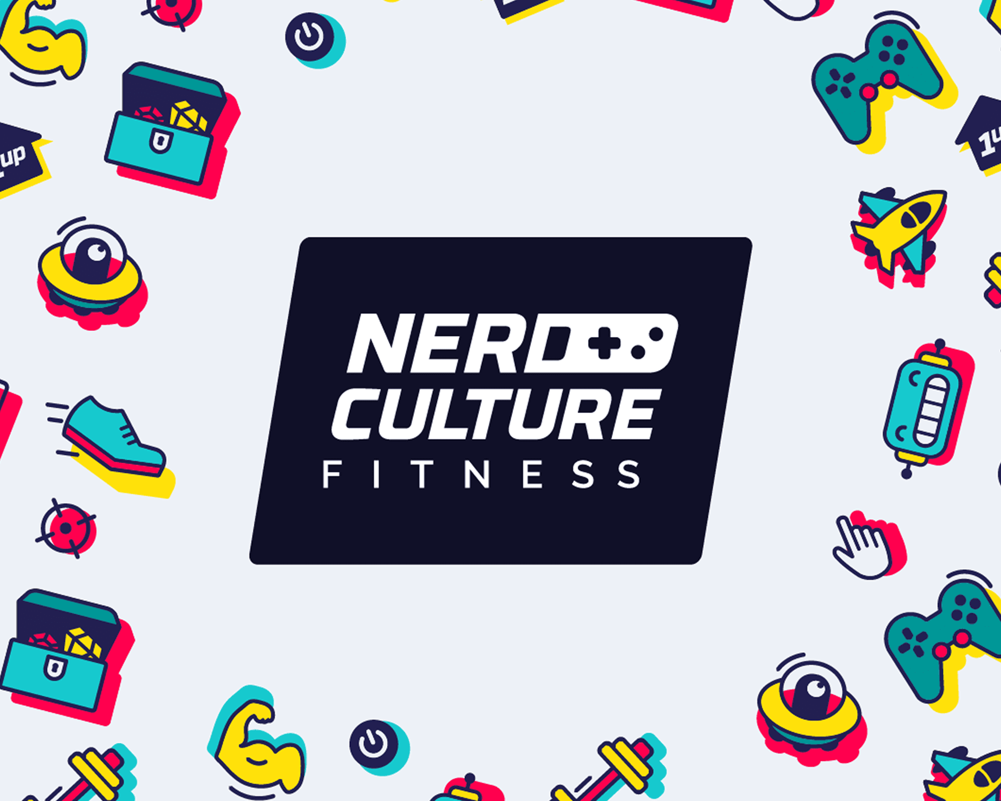 Nerd Culture Fitness branding featured