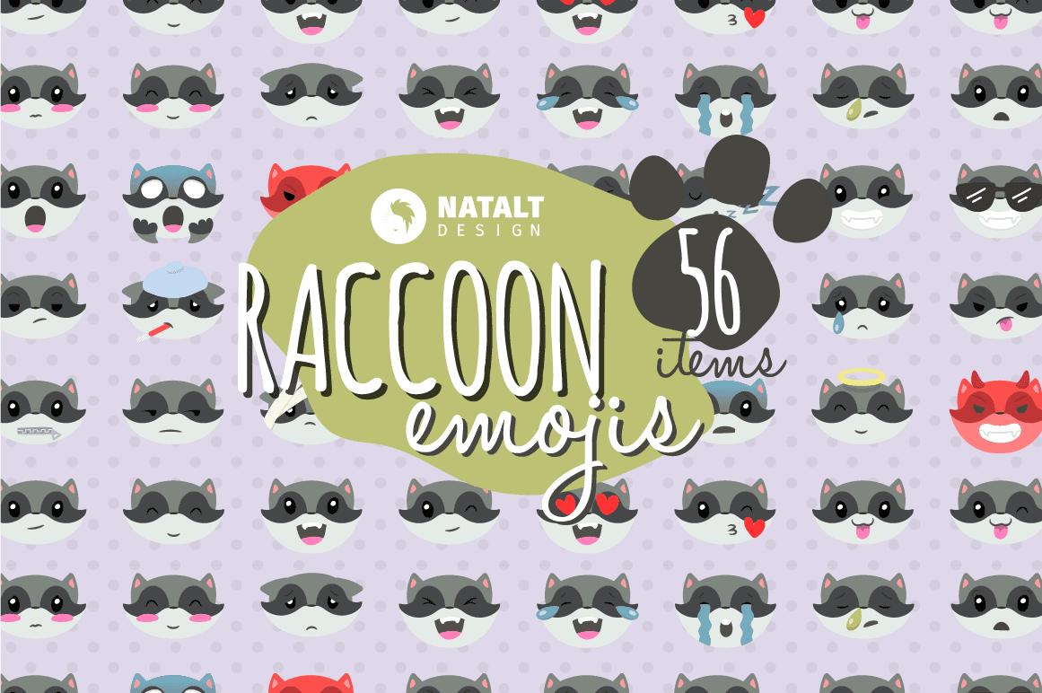 Raccoon emoji