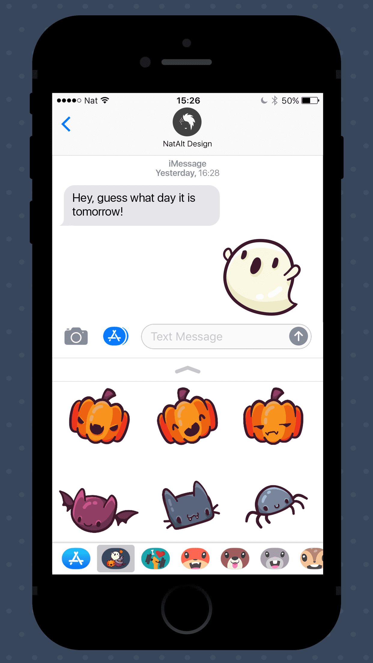 Halloween icons iMessage stickers