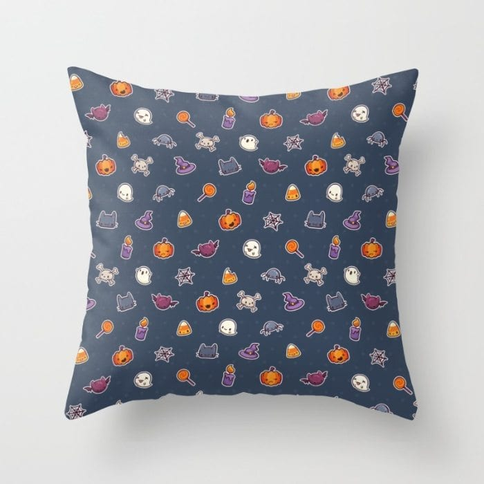 Halloween icons cushion