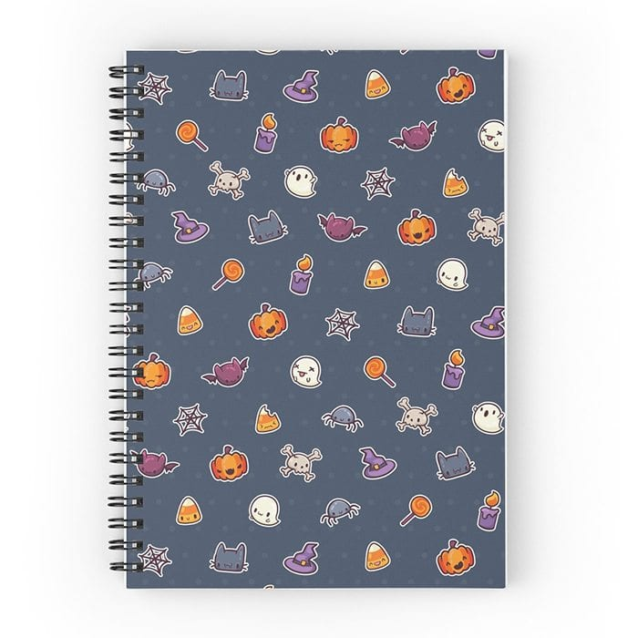Halloween icons notepad