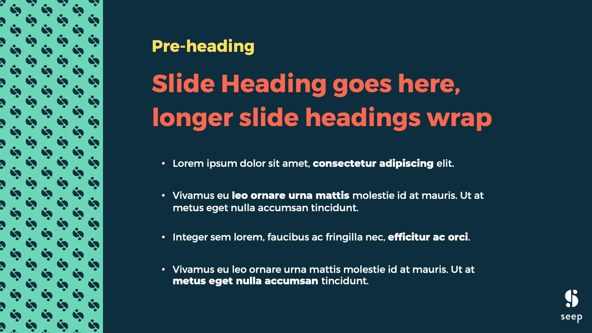 Seep presentation deck slide design