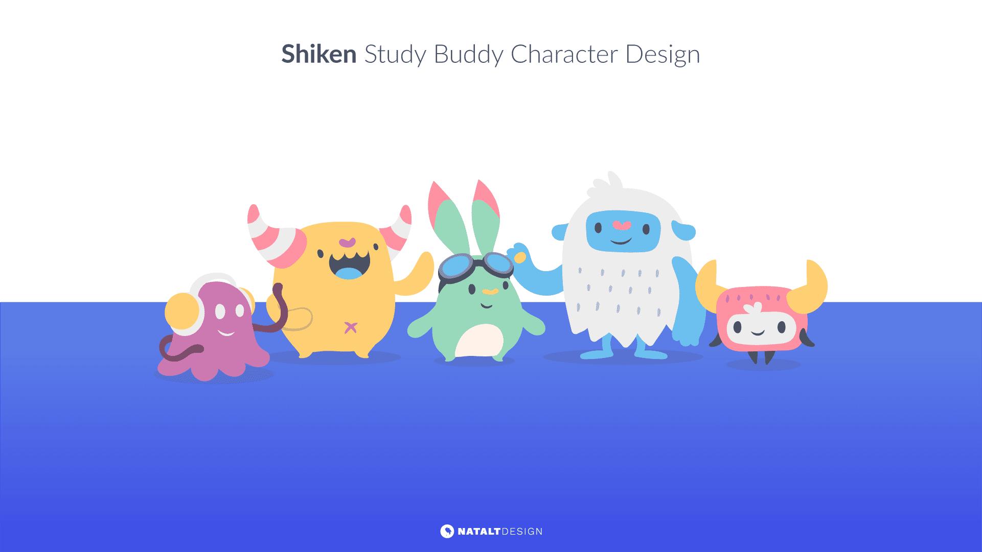 Shiken study buddy character design
