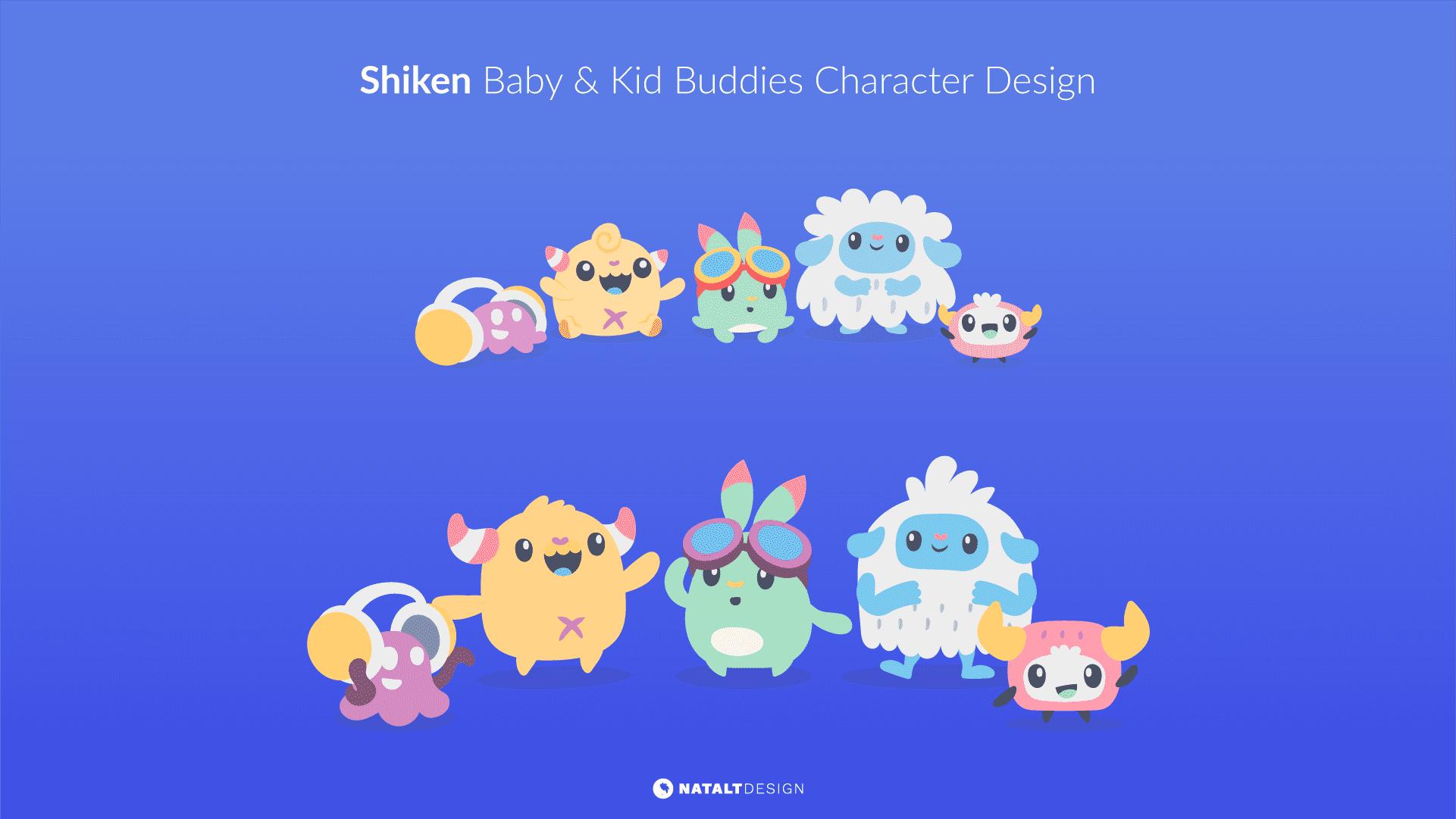 Shiken baby buddies character design