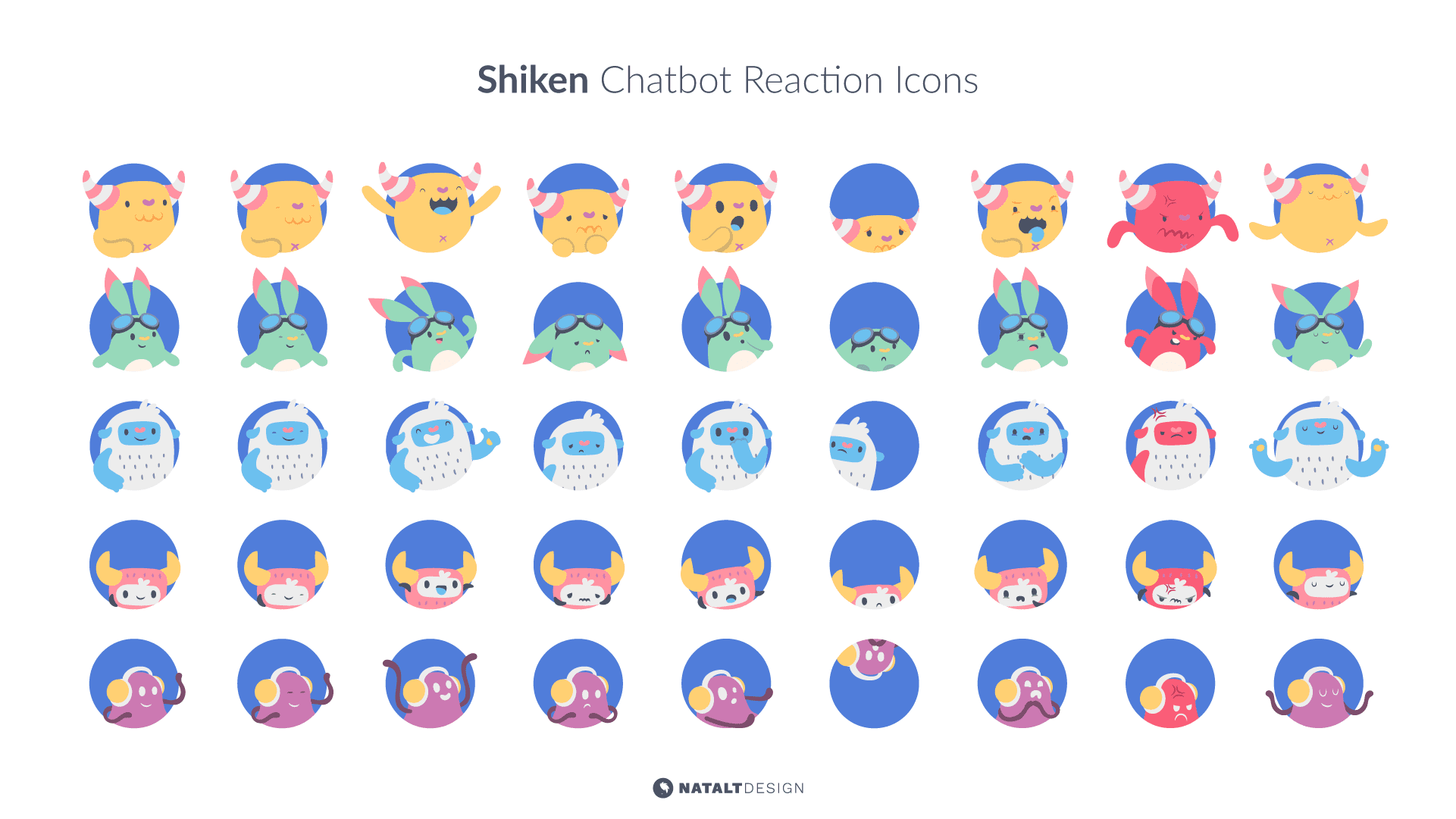 Shiken chatbot icon design