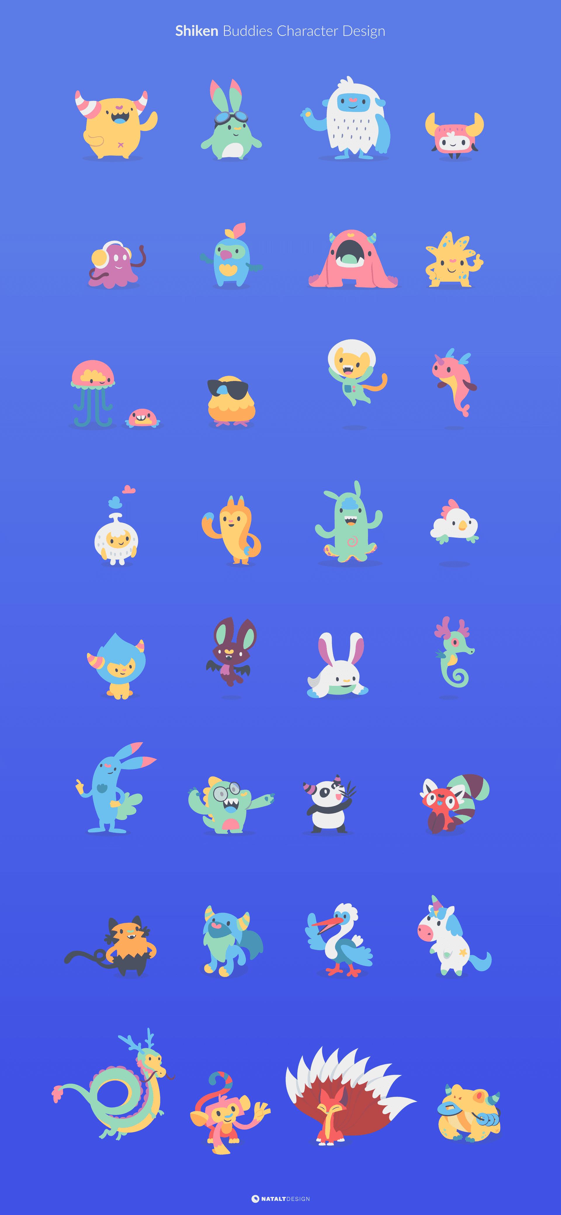 Shiken buddies character design