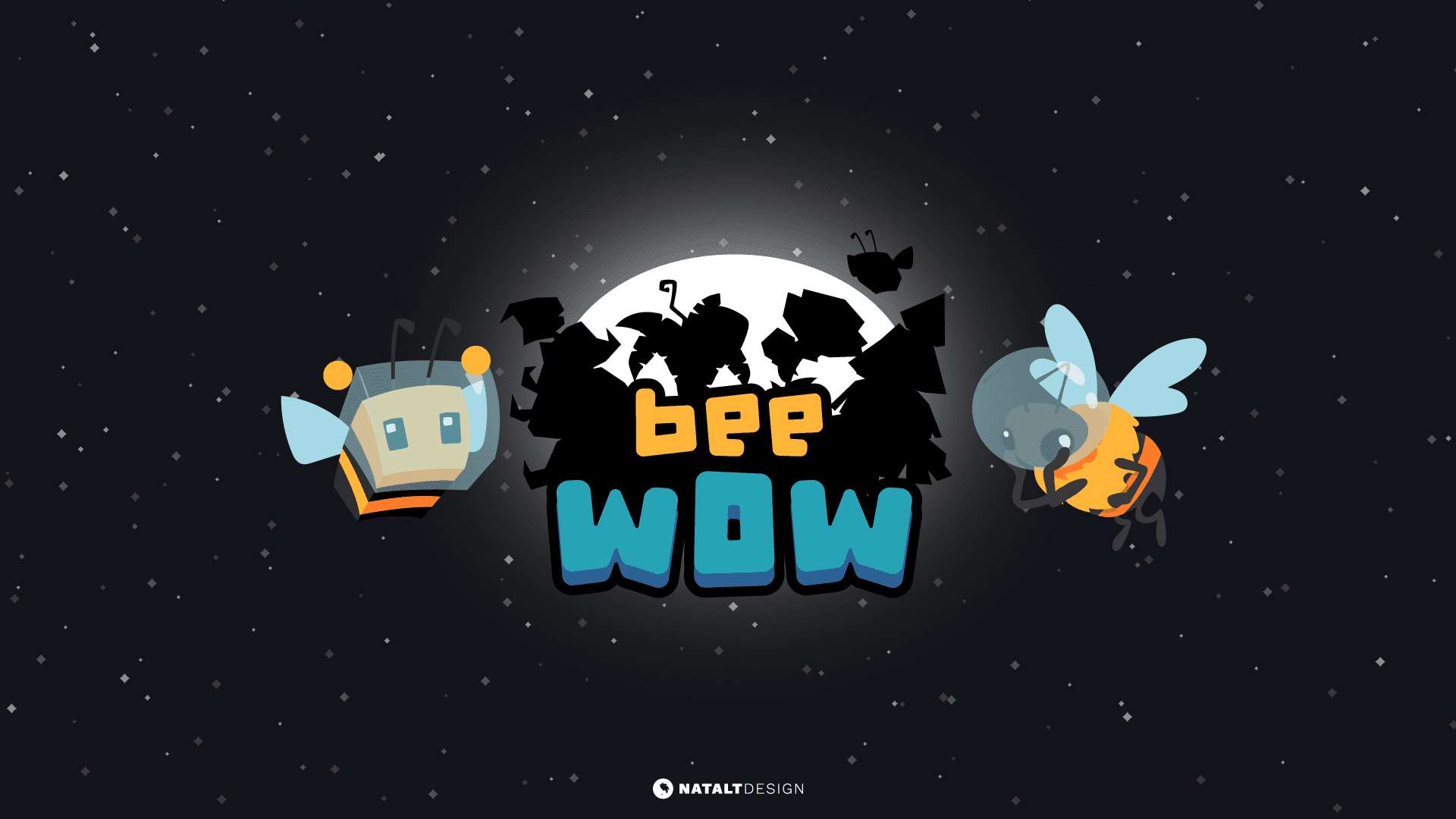 Bee Wow logo design