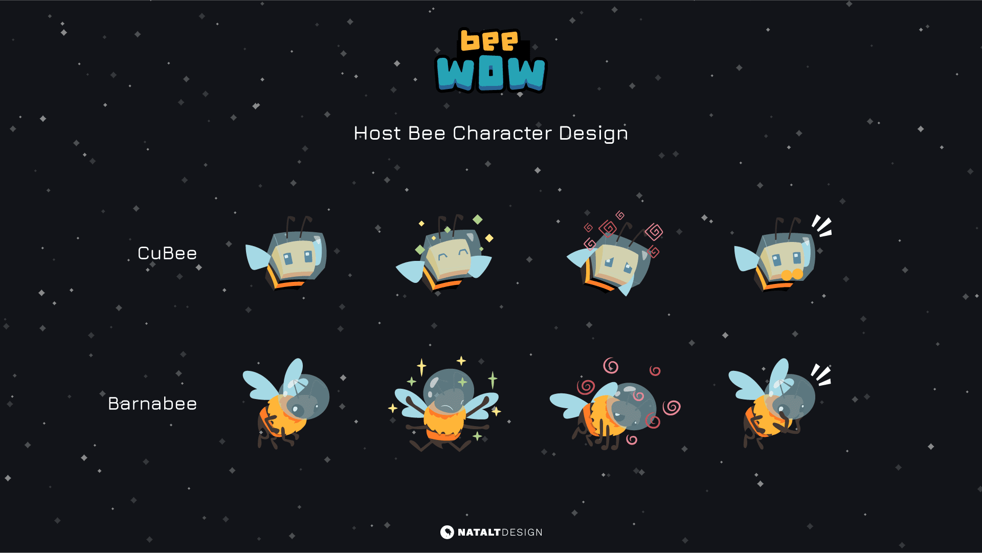 Bee wow character design
